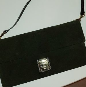D&B suede clutch